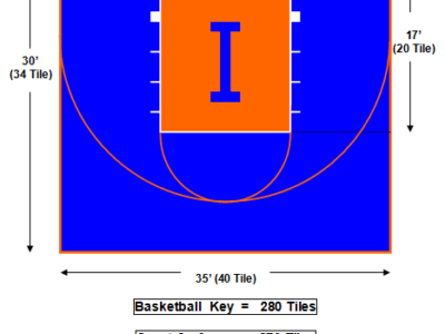30′ X 35′ Basketball Court
