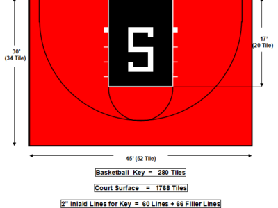 30′ X 45 Basketball Court