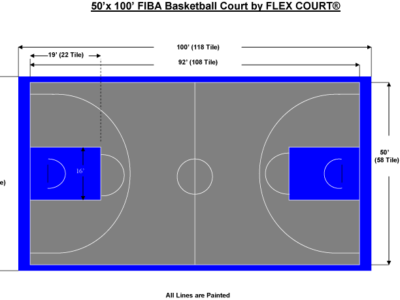 50′ X 100′ FIBA Basketball Court