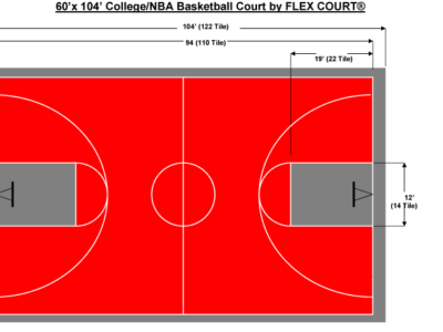 60′ X 104′ College/NBA Basketball Court