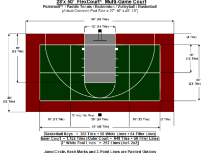 28′ X 50′ Multi-Game Court