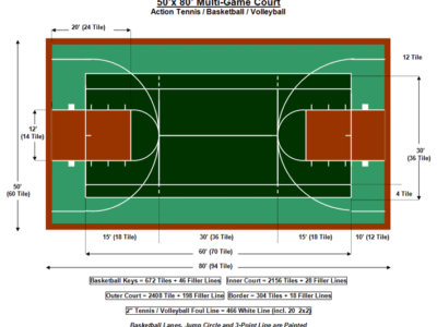 50′ X 80′ Multi-Game Court